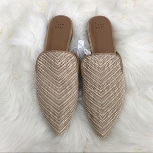 A New Day Woven Pointed Toe Flat Mules
